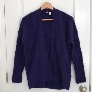 Anthropologie Sweater Cardigan Deep Purple